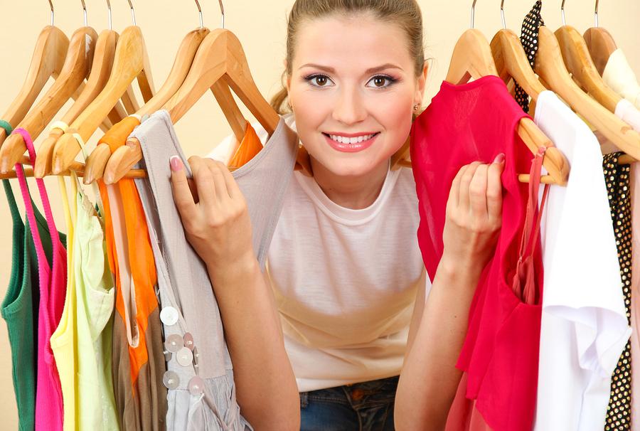 garderoba i kobieta
