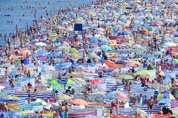 Tego lata na plażach było naprawdę tłoczno, bardzo tłoczno!