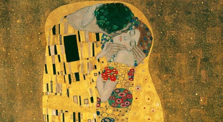 """Obraz """"Pocałunek"""" Gustava Klimta to jedna z piękniejszych ilustracji pocałunku właśnie"""