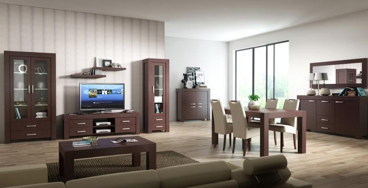Przestronny salon dużo łatwiej umeblować niż ciasny pokój - trzeba jednak uważać, by gonie zagracić