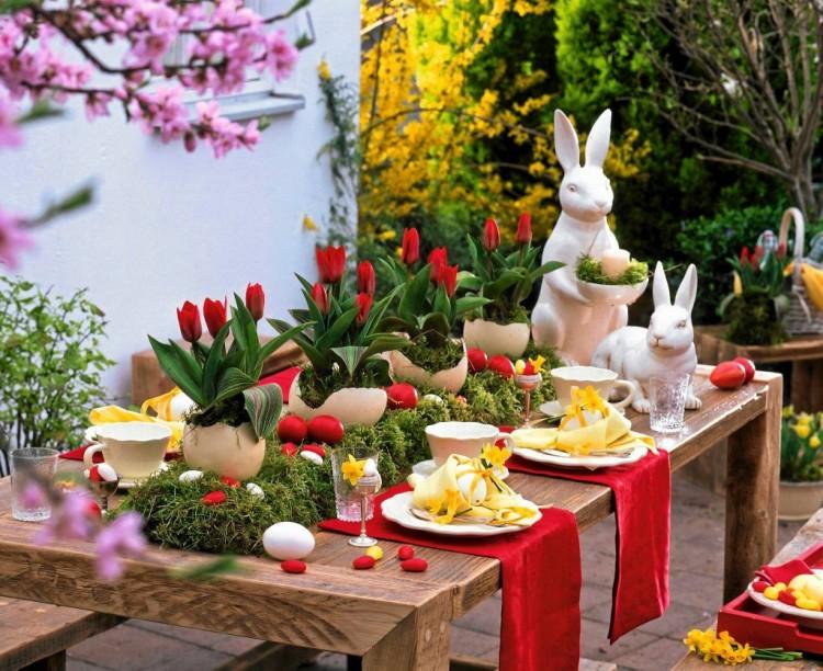 Wielkanocny stół to stół ubrany w... wiosnę, oczywiście!