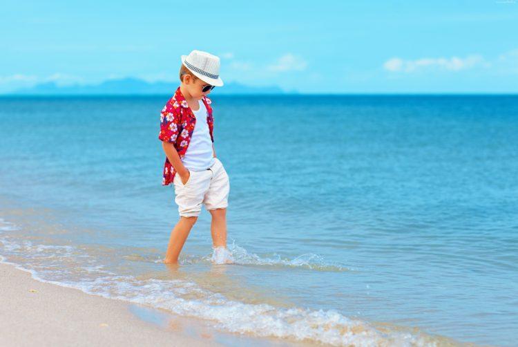 Dzieci uwielbiają wczasy nad morzem