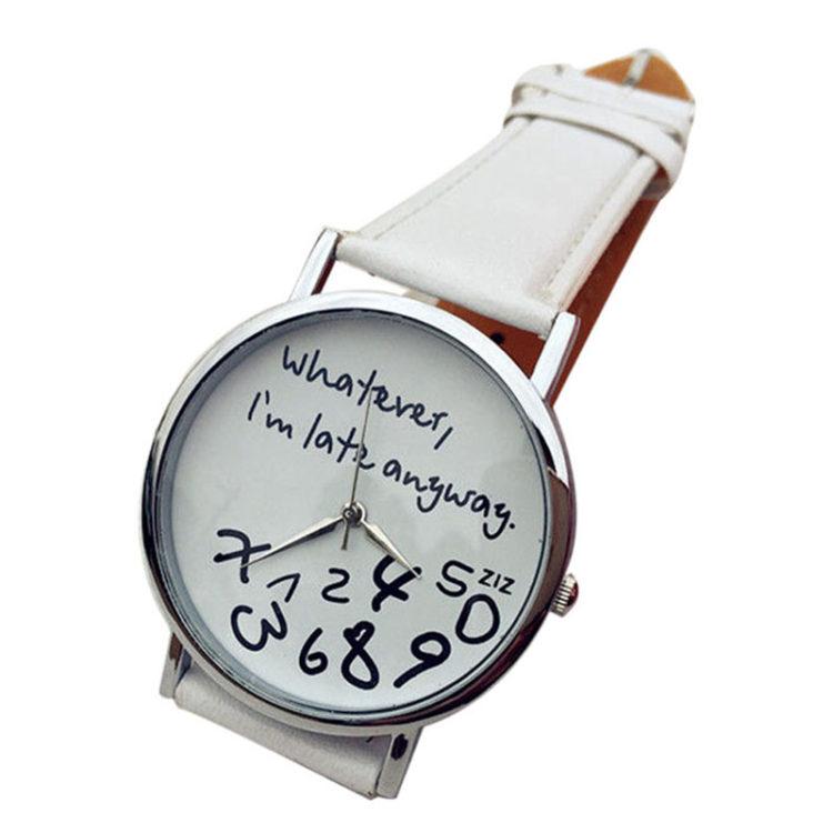 Piękny zegarek z wiele mówiącym napisem... Jesteśmy spóźnieni!