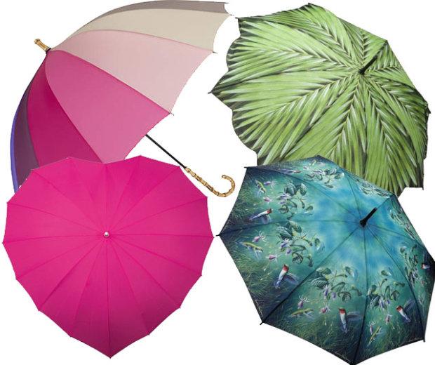 Parasolki nie muszą być po prostu czarne i automatyczne - kolory i fantazyjne wzory pomogą rozjaśnić nawet najbardziej ponury dzień