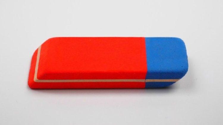 Do czego służy niebieska część gumki? Zdania na ten temat są podzielone